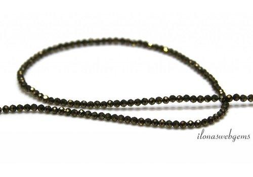 Pyrite beads facet around 2mm