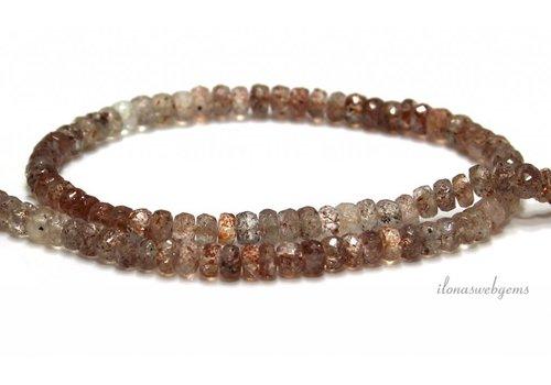 Sunstone Perlen Facet Rondell A Qualität ca. 5.5x3.5mm