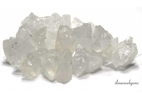 Bergkristal kralen rough 26x21x13mm