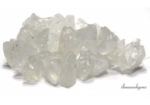 Rock crystal beads rough 26x21x13mm