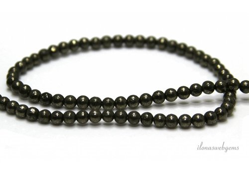 Pyrite beads around 4mm