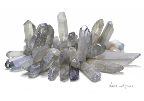 Rock crystal Obeliksen Electro plated around 23-47mm
