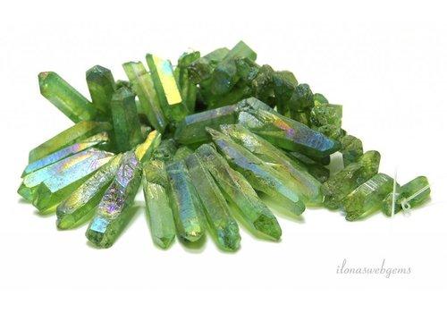 Bergkristal Obeliksen Electro plated ca. 23-47mm