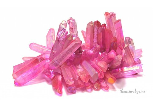 Rock crystal Obelisk beads ascending and descending from ca. 27x12x10 to 46x8x6mm