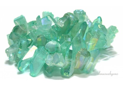 Rock crystal Obelisk beads around 23x13x10mm