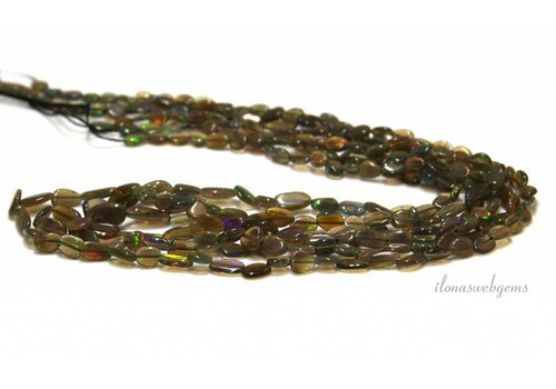 Black Edelopaal beads approx. 8x4x2.5mm