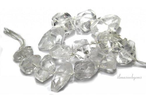 Bergkristallperlen freie Form AA Qualität um 39x21x18mm