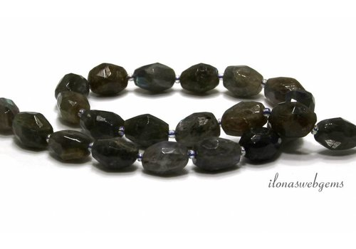 Labradorite beads free shape ca. 15x12.5x10mm