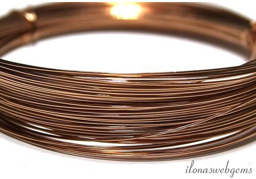 1cm rosé 14k/20 Gold filled draad norm. ca. 0.4mm / 24GA