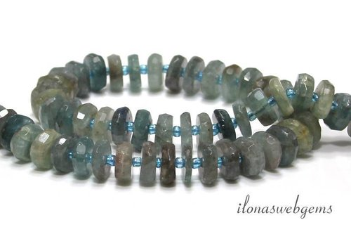 Aquamarine beads facet about 10x4mm