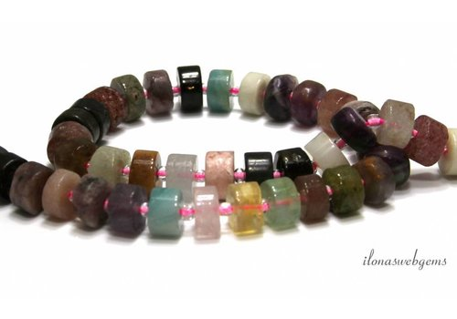 Gemstone beads mix approx. 9x6mm
