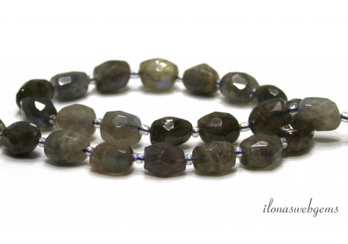 Labradorite beads free shape approx. 11x9x7.5mm