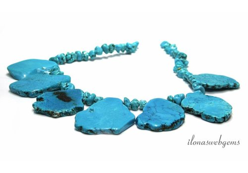 Howlite beads paste approx. 54x33x7mm