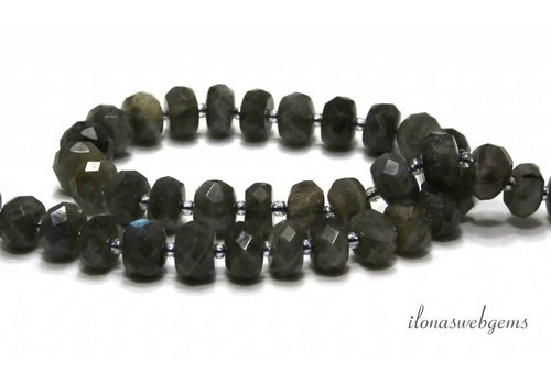 Labradorite beads facet A quality approx. 11x7mm