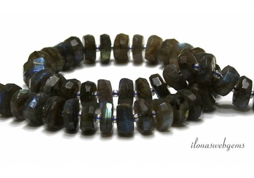 Labradorite beads facet A quality about 12x5mm