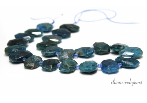 Apatite faceted beads about 22x15x8mm