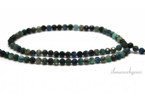 Chrysocolla beads facet around 4mm