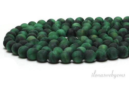 Tiger eye beads mat green about 10mm