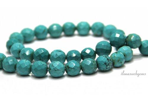 Howlite beads facet around 10mm