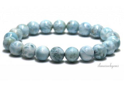 Larimar beads bracelet A quality approx. 9mm