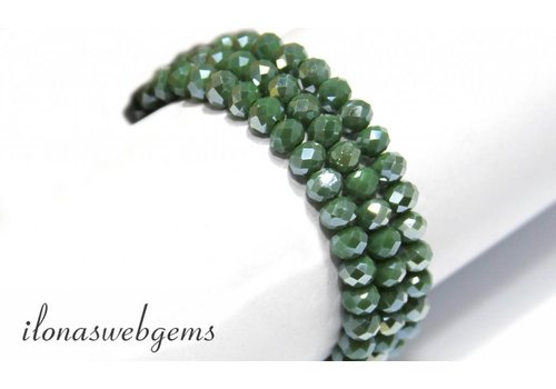 Swarovski style crystal beads about 6x5mm