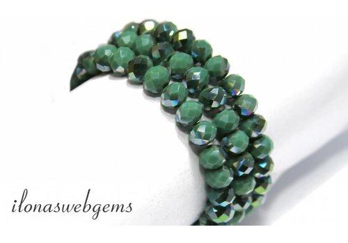 Swarovski style crystal beads app. 8x6mm