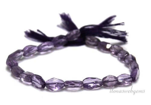 Amethyst beads facet about 8x5mm