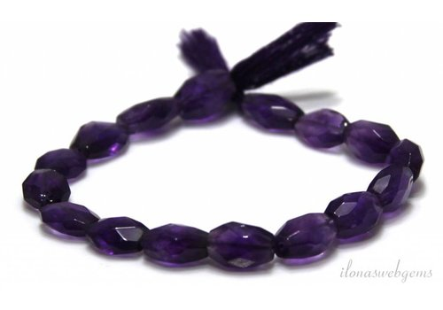 Amethyst beads facet about 12x7mm
