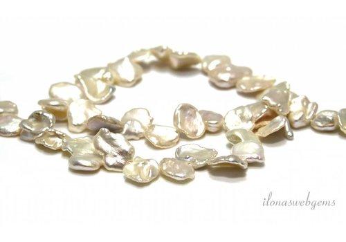 Petal keshi pearls around 14x10x3.5mm