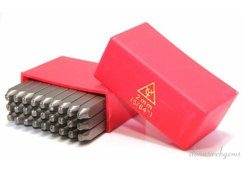 Stamp set Alphabet 2mm