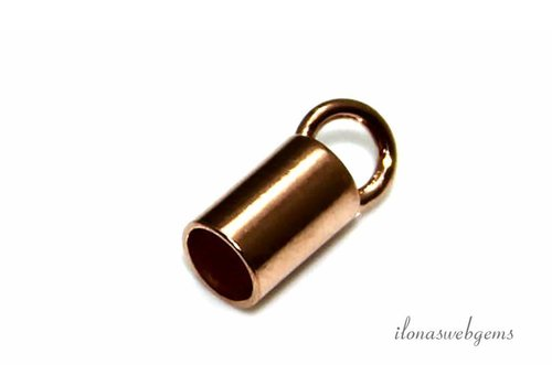 Rosé Vermeil eindkapje ca. 11x4.5mm