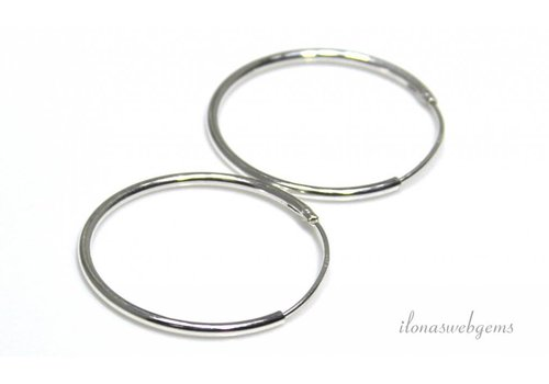 1 pair of sterling silver creoles 24mm
