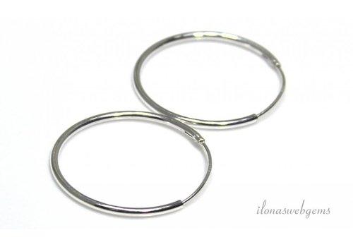 1 pair of sterling silver earrings approx. 24mm