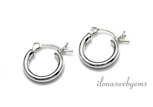 1 Paar Sterling Silber Ohrringe ca. 12x2mm