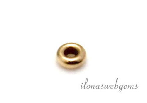 14 karaat gouden rondel ca. 2.7x1mm