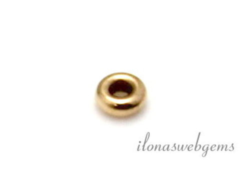 14 Karat Gold Rondell ca. 2,7x1mm