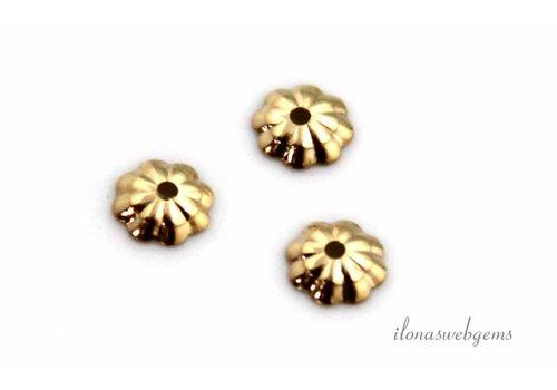 14 karaat gouden kralenkapje ca. 4.5mm