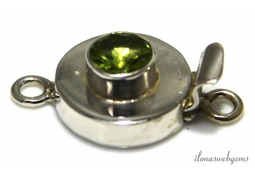 Sterling silver box lock with Peridot
