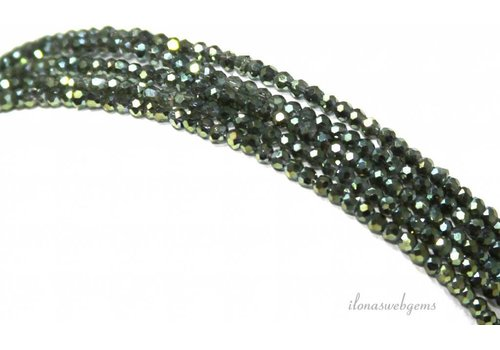 Swarovski style crystal beads around 2.5x1.5mm