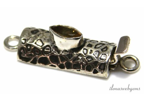 Sterling zilveren bakslotje met Citrien