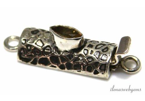 Sterling zilveren bakslotje met Prasioliet