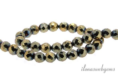 Hematite bead faceted around 6mm