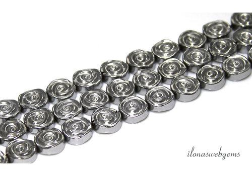 Hematite beaded roses around 8mm