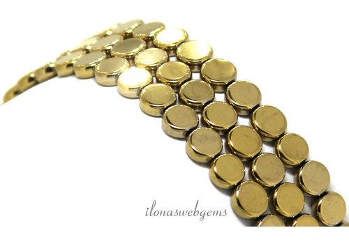 Hematiet kralen coins ca. 6mm