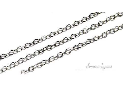 1 cm sterling Silber Links / Kette ca. 1,3mm