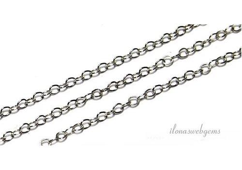 1 cm sterling zilveren schakels / ketting ca. 1.3mm
