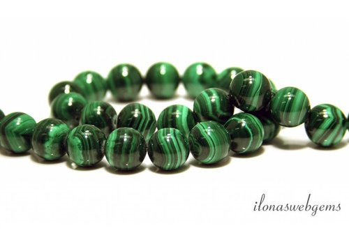 Malachite beads around 13.5mm