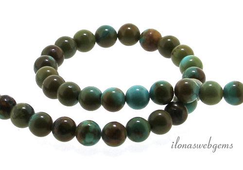 Turquoise beads around 9 mm