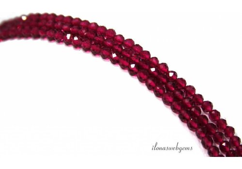 1 strand of Cubic Zirconia beads 'Ruby' facet worth € 6.95