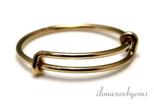 14k / 20 Gold filled ring approx 18.5x1mm